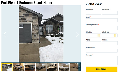 Rental Properties | Port Elgin Beach Home